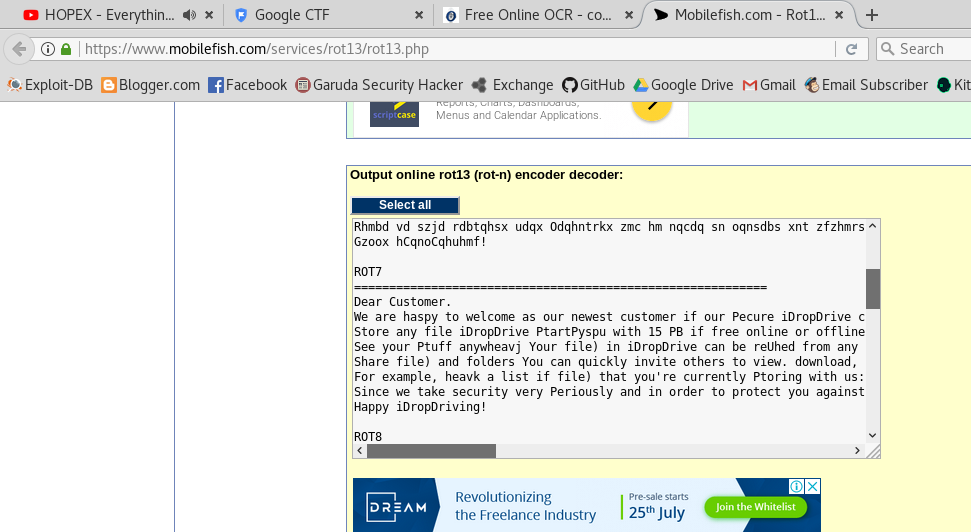Google CTF : Beginner Quest - OCR Is Cool [Write Up] ~ Yukinoshita 47