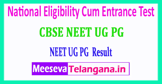 NEET 2018 Result National Eligibility Cum Entrance Test 2018 Result Download