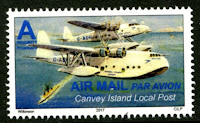 Canvey Local Post Seaplane Air Mail Stamp