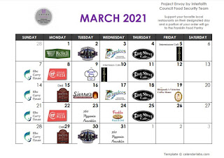Project Envoy March calendar
