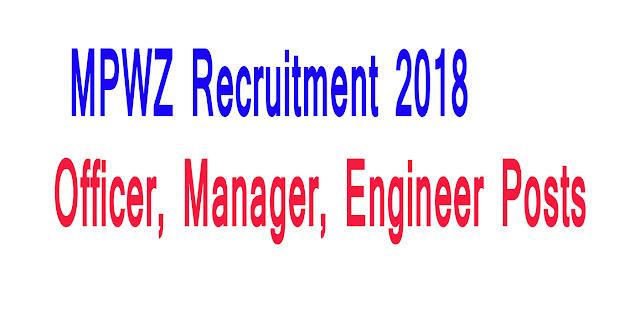 MPWZ Recruitment 2018