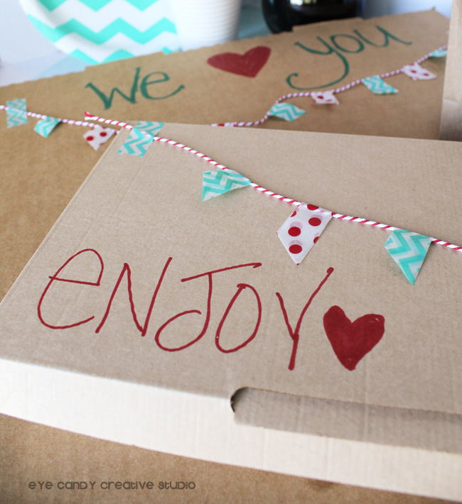 RAK dinner idea, enjoy pizza, dinner idea, RAOK idea, simple pizza box