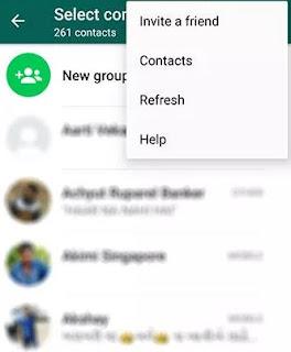 perbarui kontak whatsapp agar muncul semua