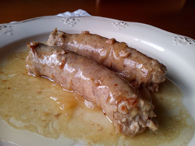 Longaniza de manzana en salsa de moscatel - La cuina de l'Olga