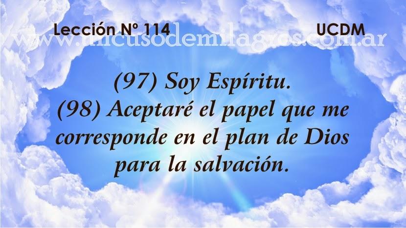 Leccion 114, Un Curso de Milagros