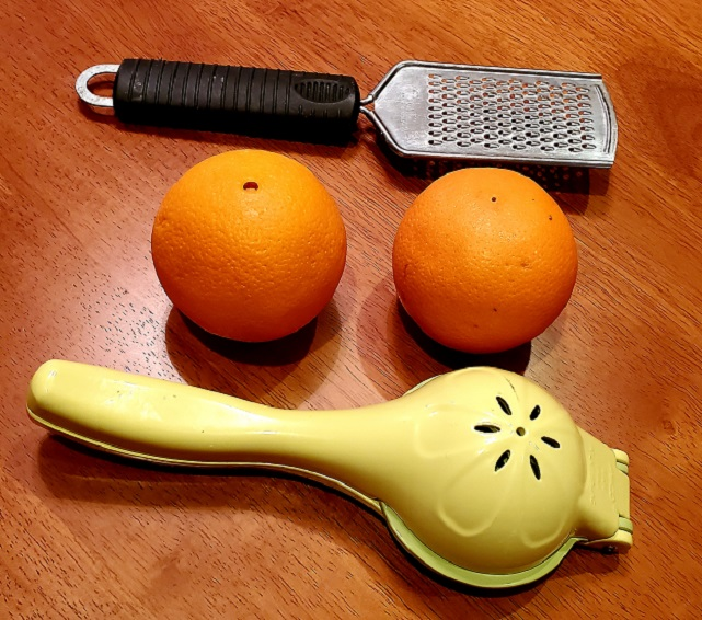 this is a juice extractor navel oranges and a zester
