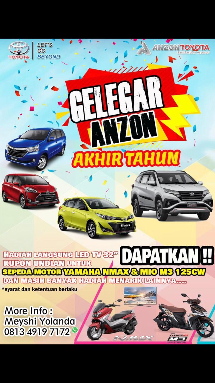 Promo Toyota November 2018 di Anzon Pontianak (Gelegar Anzon Akhir Tahun)