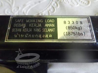 beban maksimal 850 kg