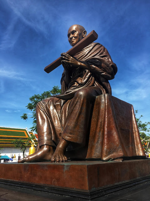 a bronze statue of Somdej Toh, Wat Rakhang, Bangkok