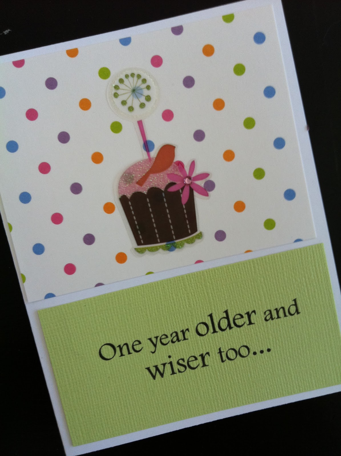 Cut A Patterned Sheet Of Paper Or Cardstock For The Top And Add Birthday Sticker Die