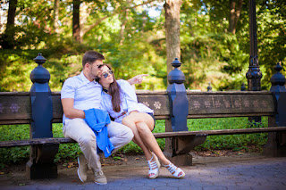 beautiful wedding photoshoot in central park