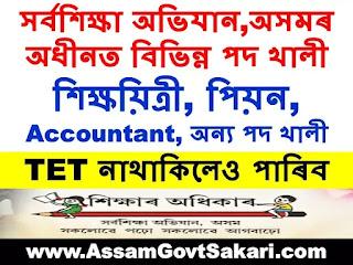 Sarba Siksha Abhijan Assam Recruitment 2020