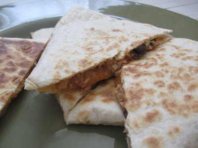 Easy Lunchtime Chicken Quesadillas {The Unlikely Homeschool}
