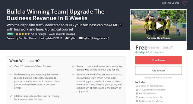 Build a Winning Team|Upgrade The Business Revenue in 8 Weeks