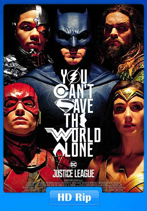 Justice League 2017 Dual Audio Hindi HC HDRip 480p 350MB x264 Poster