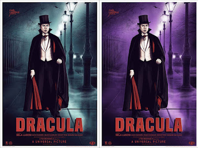 Dracula Movie Poster Screen Print by Sara Deck x Mondo