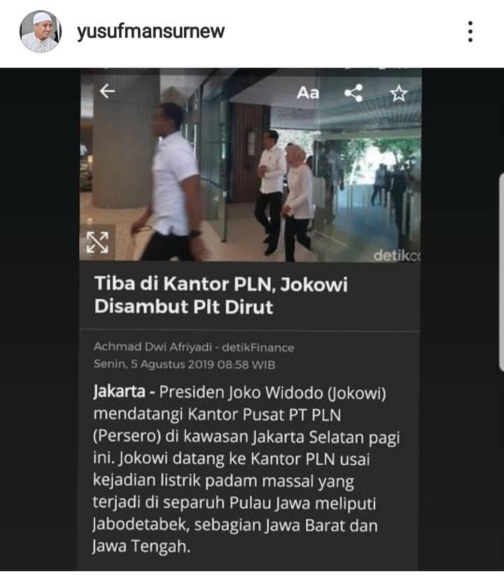 Ust Yusuf Mansur Puji Presiden, Begini Tanggapan Netizen