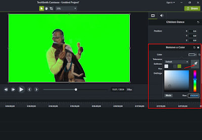 cara edit video green screen dengan camtasia