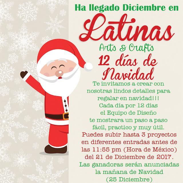 1bbfcc65ebc Latinas Arts and Crafts  12 Días de Navidad  Día 12