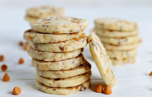 Butterscotch Shortbread Cookies #desserts #cookies