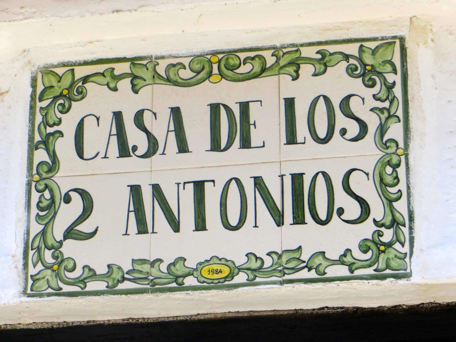 street sign of Mijas Pueblo