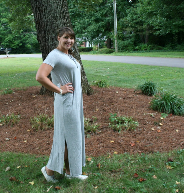 Maxi dresses are a staple in my closet year round. They can easily be dressed up or down like this one from Pink Blush!