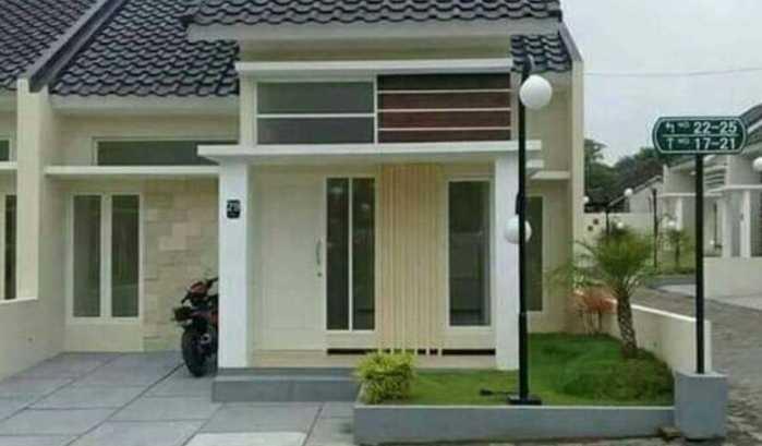 Desain rumah minimalis tampak depan dengan batu alam