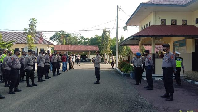 Amankan Aksi Massa di Lhokseumawe, Polres Aceh Utara Kerahkan Dua Pleton Dalmas