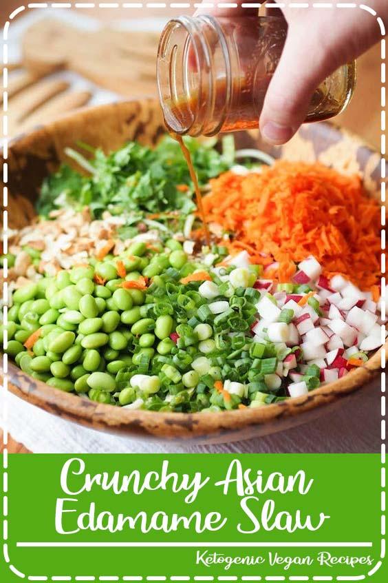 A recipe for crunchy Asian edamame slaw that Crunchy Asian Edamame Slaw