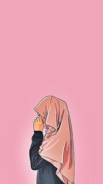 Gambar animasi muslimah sedih