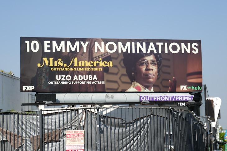Uzo Aduba Mrs America Emmy billboard