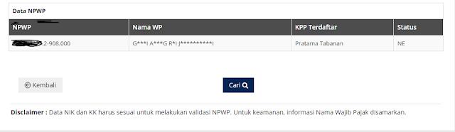 cara cek NPWP