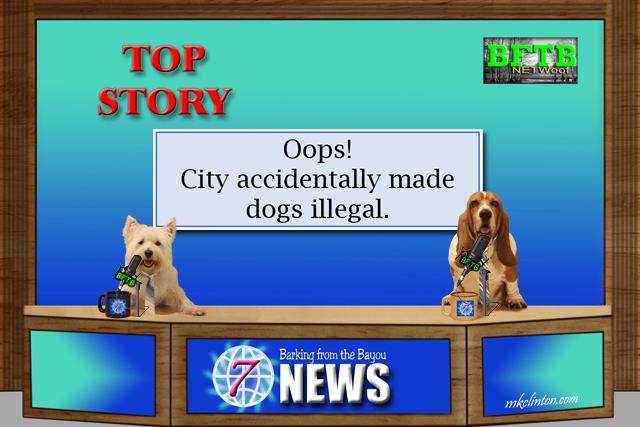 Dogs reporting the news