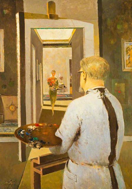 Hugh Adam Crawford, Self Portrait, Portraits of Painters, Fine arts, Adam Crawford, Portraits of painters blog, Paintings of Hugh Adam Crawford, Painter Hugh Adam Crawford