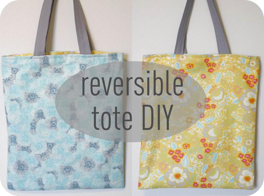 Reversible Tote Bag DIY Sewing Tutorial