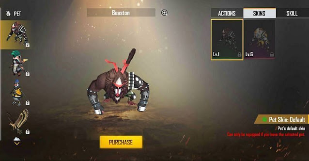 Free Fire pet Beaston Skills, Abilities and other details