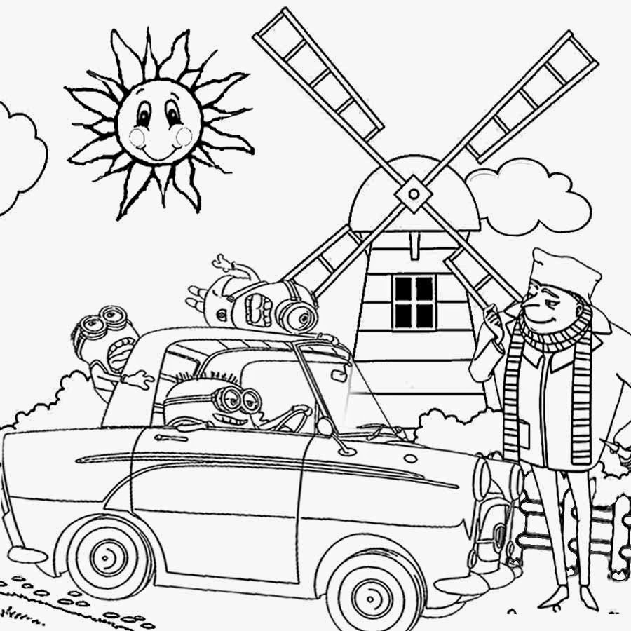 crazy car coloring pages - photo#5