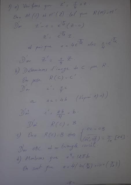 تصحيح الامتحان الوطني لمادة الرياضيات شعبة العلوم التجريبية 2020