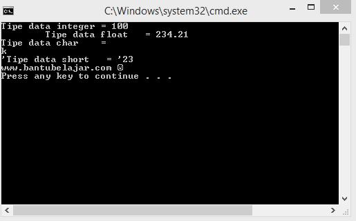 Escape Sequence Pada C++
