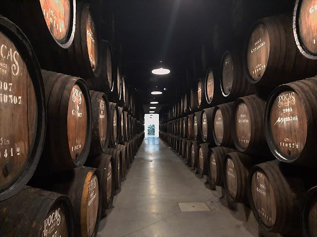 barris de vinho nas caves Poças