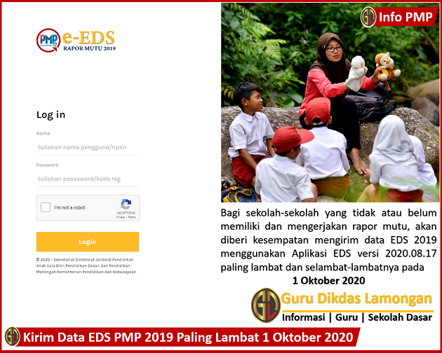 Kirim Data EDS PMP 2019 Paling Lambat 1 Oktober 2020