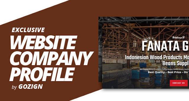 contoh desain landingpage company profile