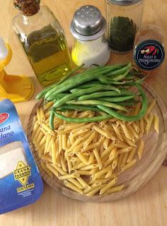 Macarrones con judías verdes, ingredientes