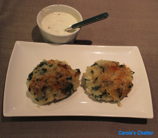 Spicy Spinach & Potato Patties (low FODMAP) by Carole's Chatter