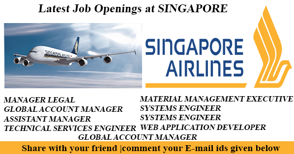 singapore airlines latest hot job openings - Global Account Manager