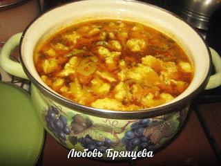 как приготовить суп с галушками рецепт