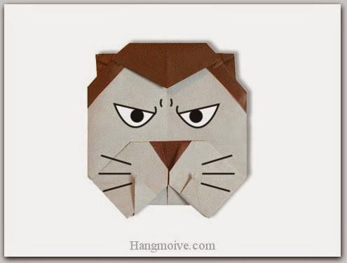 Cách gấp, xếp con ma sói bằng giấy origami - Video hướng dẫn xếp hình Halloween - How to fold a Worewolf