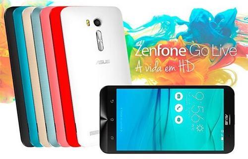 O ASUS Zenfone Go Live tem resolução HD é LED e tem 5,5 polegadas, 2 GB de RAM, 16 GB de espaço de armazenamento, câmera traseira de 13 megapixels e câmera de selfie de 5 megapixels