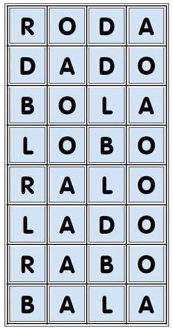 A Arte De Aprender Brincando Novo Bingo De Palavras Com Dado