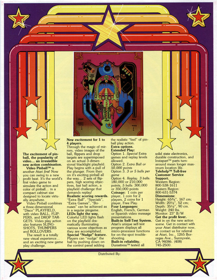 Glorious Cinematronics Solar Quest Original 1981 Video Arcade Game Flyer Space Age Art Merchandise & Memorabilia